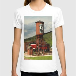 Water Tower Of The Black Hills Central Railroad T-shirt