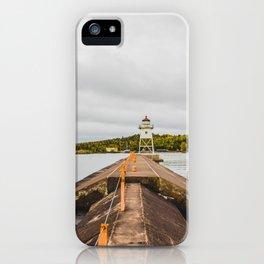 Grand Marais Lighthouse, Grand Marais, Minnesota 3 iPhone Case