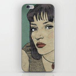 Mia (Mia Wallace Pulp Ficion) iPhone Skin