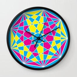 Broken Nonagon 1 Wall Clock