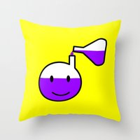pocket fuel Throw Pillows featuring Fuel for the mind by complesso gasparo