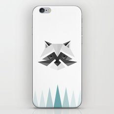 Geometric Racoon iPhone Skin