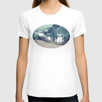 snowboarding T-shirts featuring Lift Me Up by AmandaRoyale