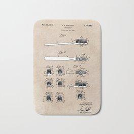 patent art Wolcott Toothbrush 1938 Bath Mat