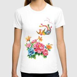 chinese peonies and phoenix T-shirt