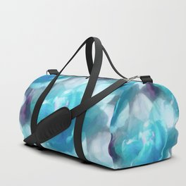 Turquoise abstracted tulips Duffle Bag