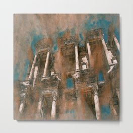 antiquity columnar turkey ruin Metal Print