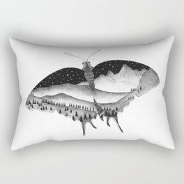 Dotwork Butterfly Landscape Rectangular Pillow