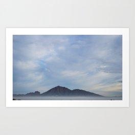 Camelback Mountain in the Fog Art Print