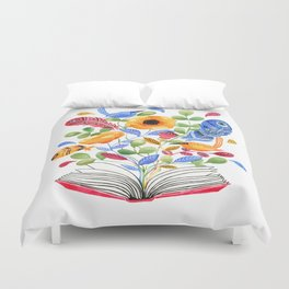 My Book of Thoughts Duvet Cover