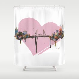 Hawthorne Heart Shower Curtain