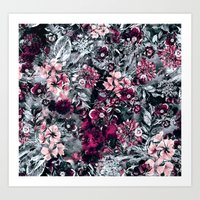 dahlia Art Prints featuring Dahlia by RIZA PEKER