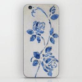 Original Art - Wedgewood Blue Roses - Raised detail & texture iPhone Skin