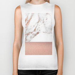 Rose gold marble and foil Biker Tank