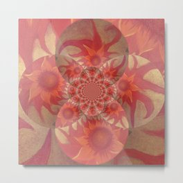 Radiantly Red- Revamped Metal Print