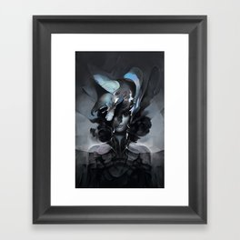 The Carrion Widow from Below the Cliffs Framed Art Print