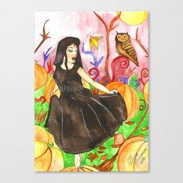 Pumpkin Fields Canvas Print