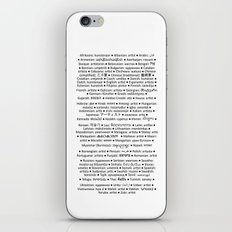 ARTIST in 91 languages iPhone & iPod Skin