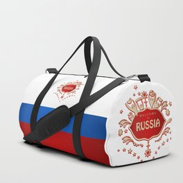 "Russia remembrance gift ""Welcome"" invitation design travel Duffle Bag"