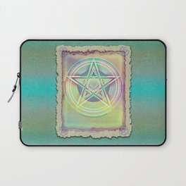 Rainbow Ghosted Pentacle Laptop Sleeve