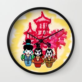 Chien po Ling and Yao Mamiji  Wall Clock