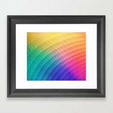 Spectrum Bomb! Fruity Fresh (HDR Rainbow Colorful Experimental Pattern) Framed Art Print