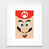 mario bros Framed Art Prints featuring Super Mario Bros NES by JAGraphic