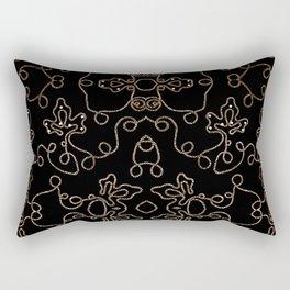 Elegant gold embellishments on black Rectangular Pillow