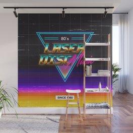 Retrowave: Laser Disc Music Wall Mural
