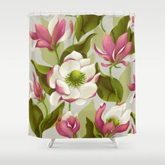 magnolia bloom - daytime version Shower Curtain