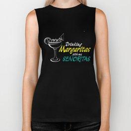 Drinking T-Shirt Drinking Margaritas With My Senoritas Biker Tank
