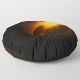 Total  Eclipse Astro Photography Floor Pillow