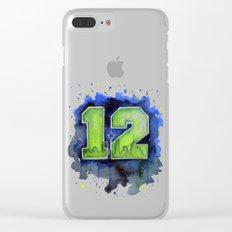 12th Man Seahawks Seattle Go Hawks Art Clear iPhone Case