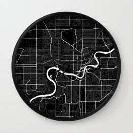 Edmonton - Minimalist City Map Wall Clock