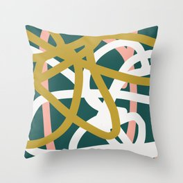 Abstract Lines 02B Throw Pillow