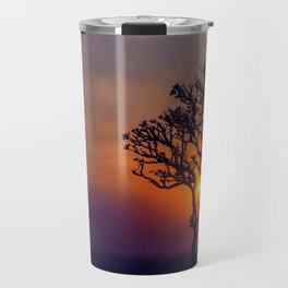 A Sunset Silhouette in Hampi, India Travel Mug