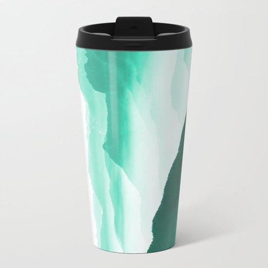 Creamy Mountains Metal Travel Mug