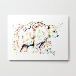 Bear Family - and then there were 3 Metal Print