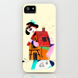 Girl in House iPhone Case
