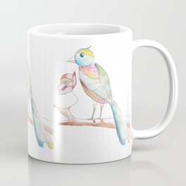 Watercolor Bird  Coffee Mug