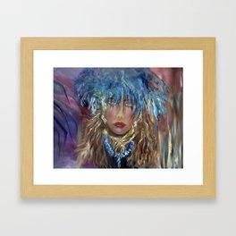 Abstract Hula Framed Art Print
