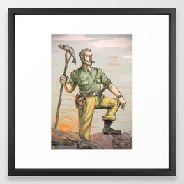 ENJOY THE SURVIVAL Framed Art Print