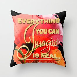 Everything You can Imagine – Poppy Throw Pillow