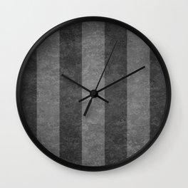 Grey Stripes Wall Clock