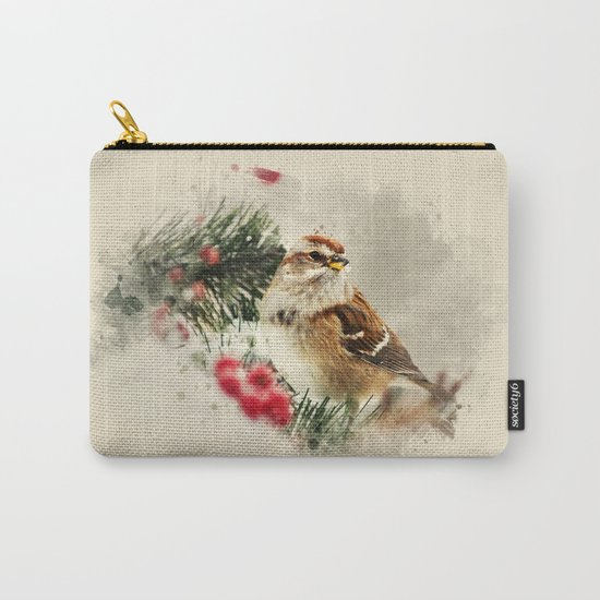 American Tree Sparrow Watercolor Art Carry-All Pouch