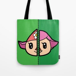 Old & New Animal Crossing Villager Female Tote Bag