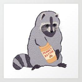 Tony the Trash Panda Art Print