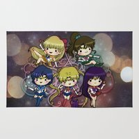 sailor moon Area & Throw Rugs featuring Sailor moon by Madoso