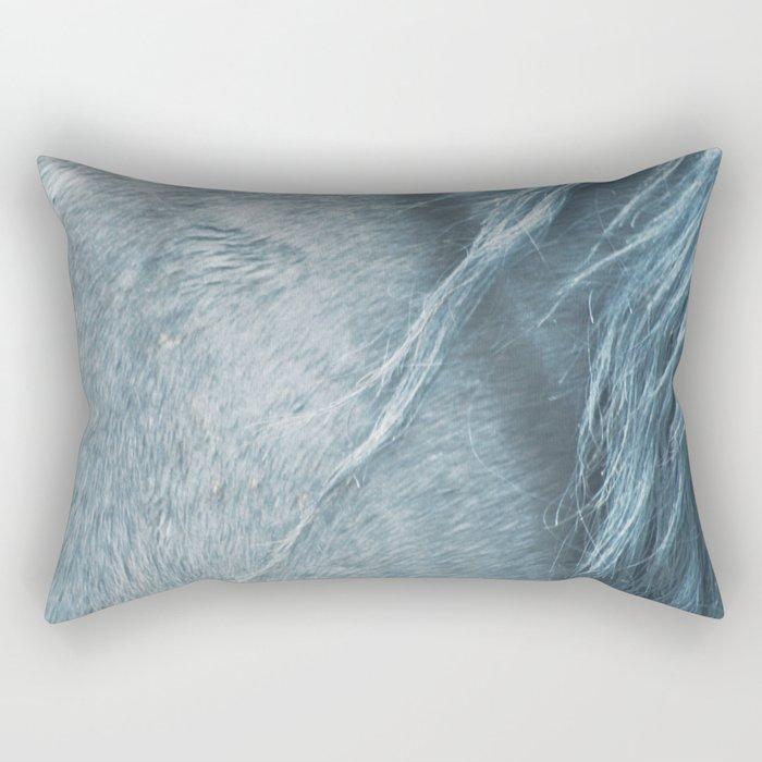 Wild horse photography, fine art print of the mane, for animal lovers, home decor Rectangular Pillow