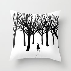 A Tangle of Trees Throw Pillow